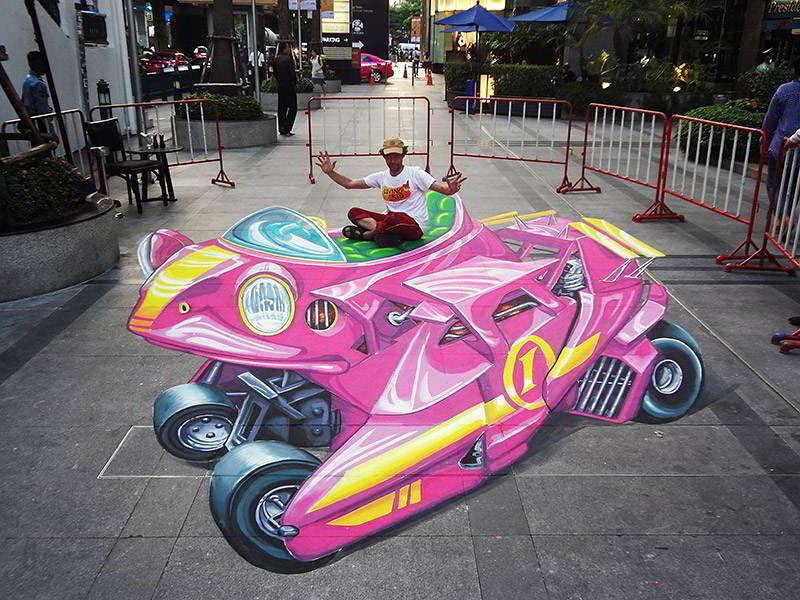 3D Street Art Frog Mobile- Bangkok Thailand