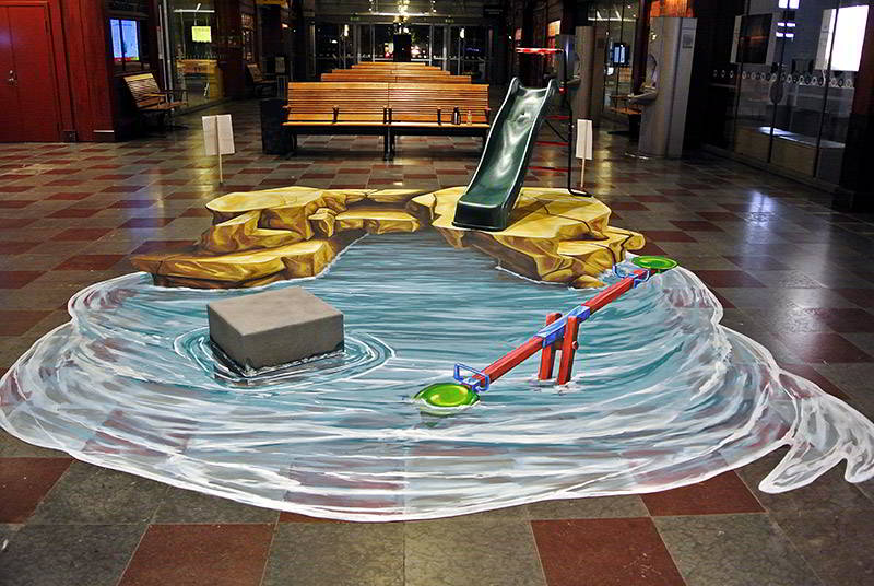 3D Street Art for Green Environmental Party - Sweden