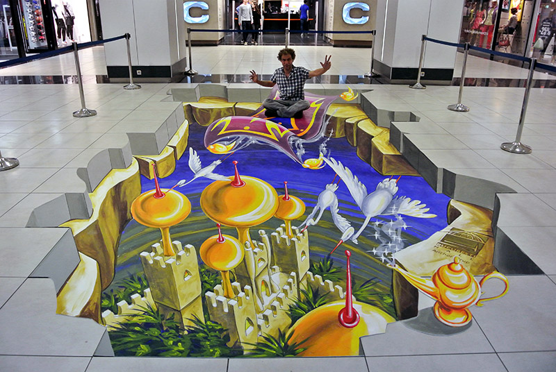 3d-streetart-3d-straattekening-3d-chalk-art-3d-straattekenaars-pavement-art-bucuresti-mall-roemenie-2