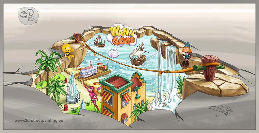 3D Sketch for Plopsaland, Belgium