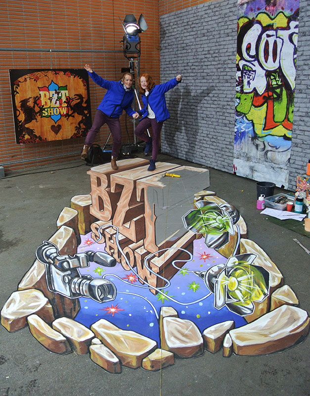 3D Streetpainting designed by Remko van Schaik