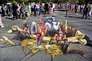 3d-streetpainting-chalk-festival-venice-florida-3d-terror-bird-remko-van-schaik-2