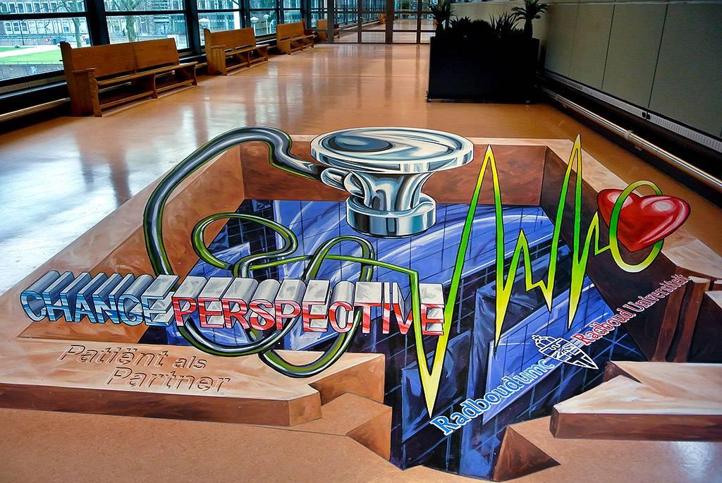 3D Street Art at Radboud University