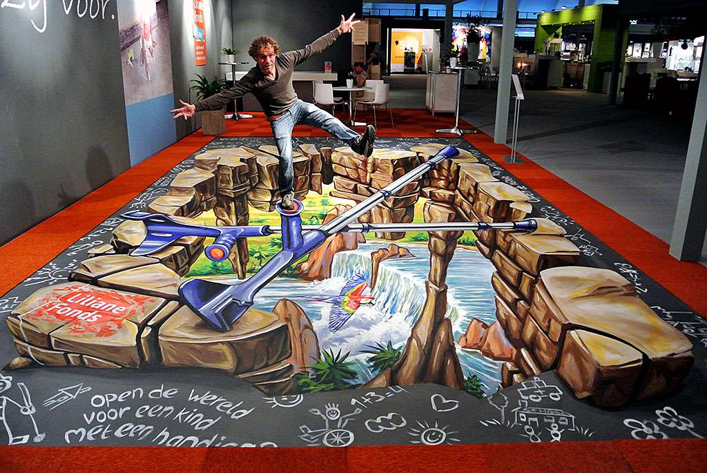 3D Streetpainting Liliane Fonds