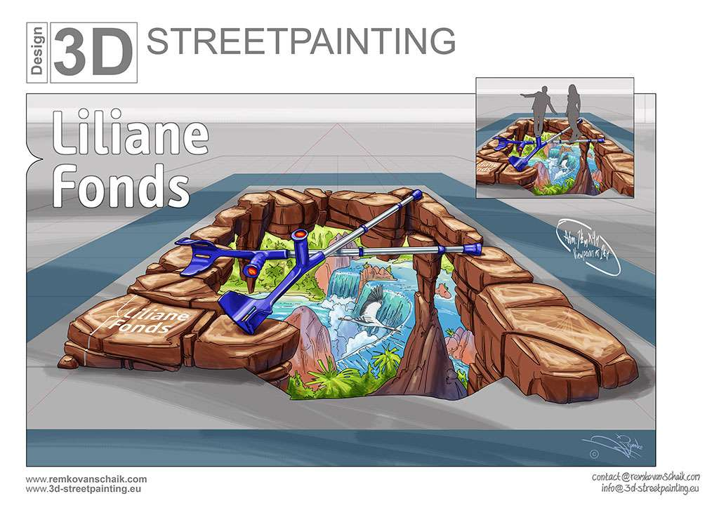 3D Streetpainting Sketch Liliane Fonds