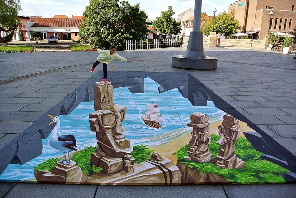 3d-streetpainting-a-kind-of-easter-island-remko-van-schaik-vejle-denmark-1