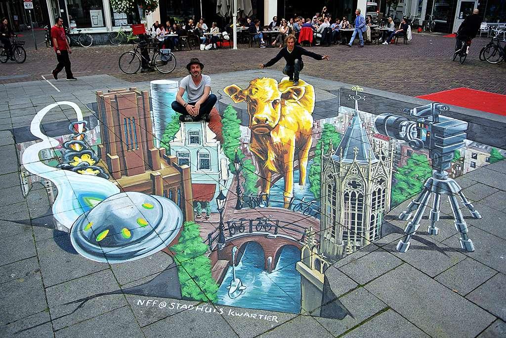3D Streetpainting Nederlands Film Festival 2015