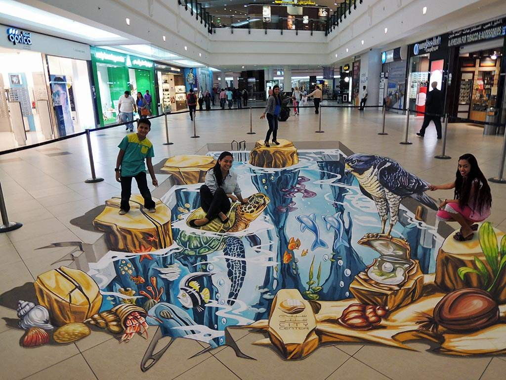 3D Streetpainting ECE City Center Doha, Qatar