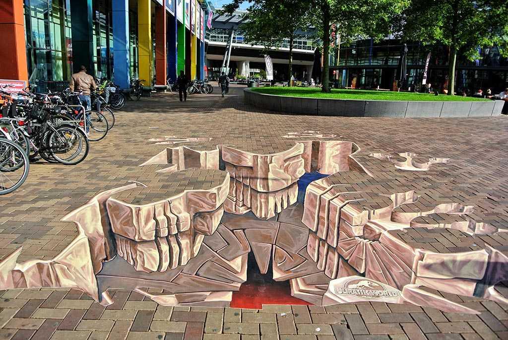 3d-streetpainting-jurassic-world-painting-2015-amsterdam-arena-remko-van-schaik-1