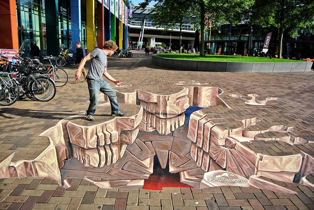 3D Streetpainting 'Jurassic World Painting'
