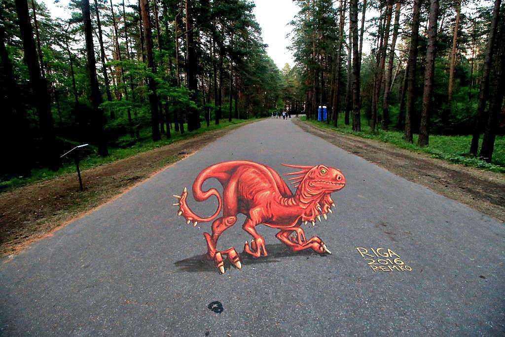 3d-streetpainting-3d-draconis-raptor-remko-van-schaik-3d-streetart-festival-illusions-of-riga-2016-1