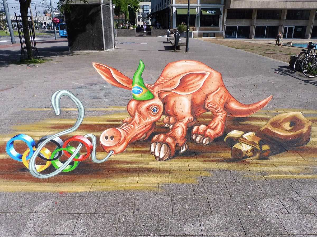 3d-streetpainting-3d-worldstreetpainting-festival-arnhem-olympic-aardvark-by-remko-van-schaik-1