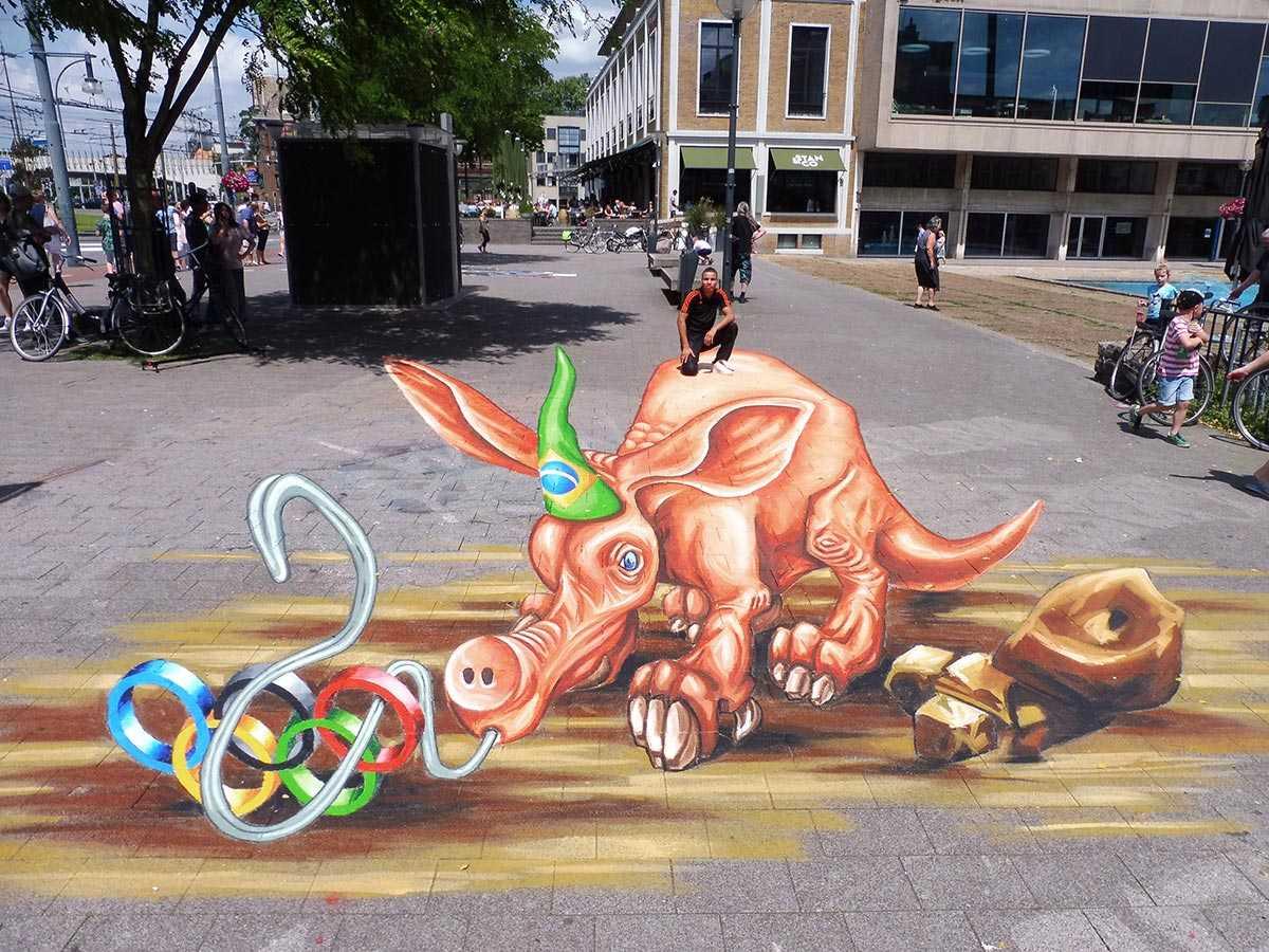 3d-streetpainting-3d-worldstreetpainting-festival-arnhem-olympic-aardvark-by-remko-van-schaik-2