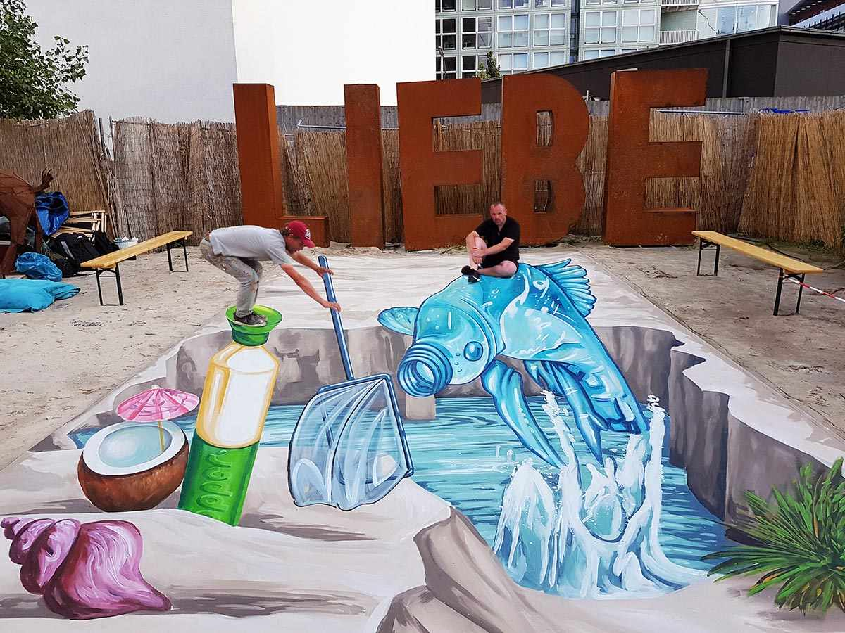 3D Streetpainting for Dopper in Berlin