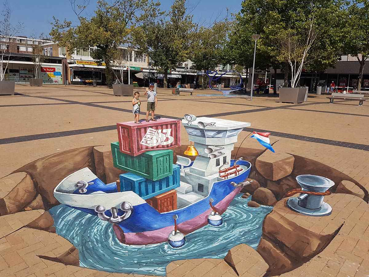 3d-streetpainting-3d-boat-plein-53-rotterdam-remko-van-schaik-4