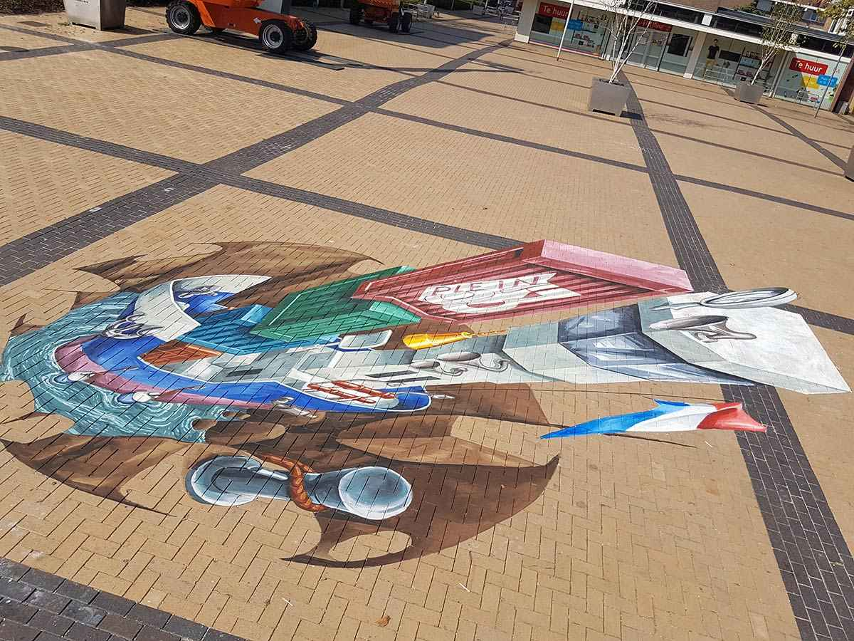 3d-streetpainting-3d-boat-plein-53-rotterdam-remko-van-schaik-5