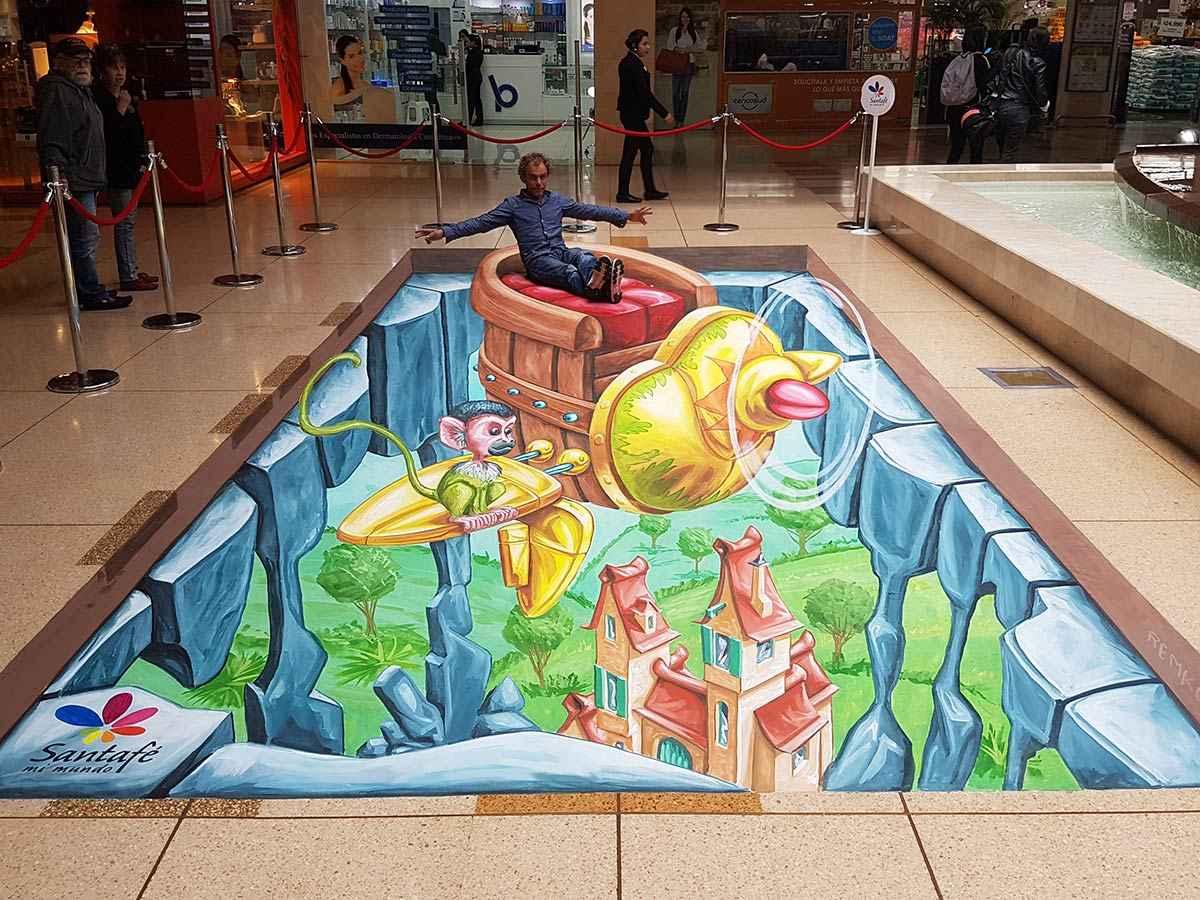 3d-streetpainting-3d-international-artwalk-3d-we-talk-chalk-remko-van-schaik-santafe-shoppingmall-bogota-colombia-1