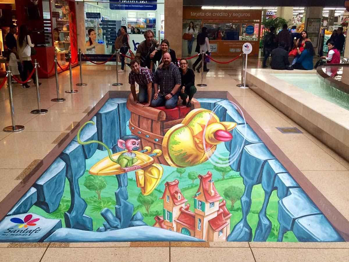 3d-streetpainting-3d-international-artwalk-3d-we-talk-chalk-remko-van-schaik-santafe-shoppingmall-bogota-colombia-6