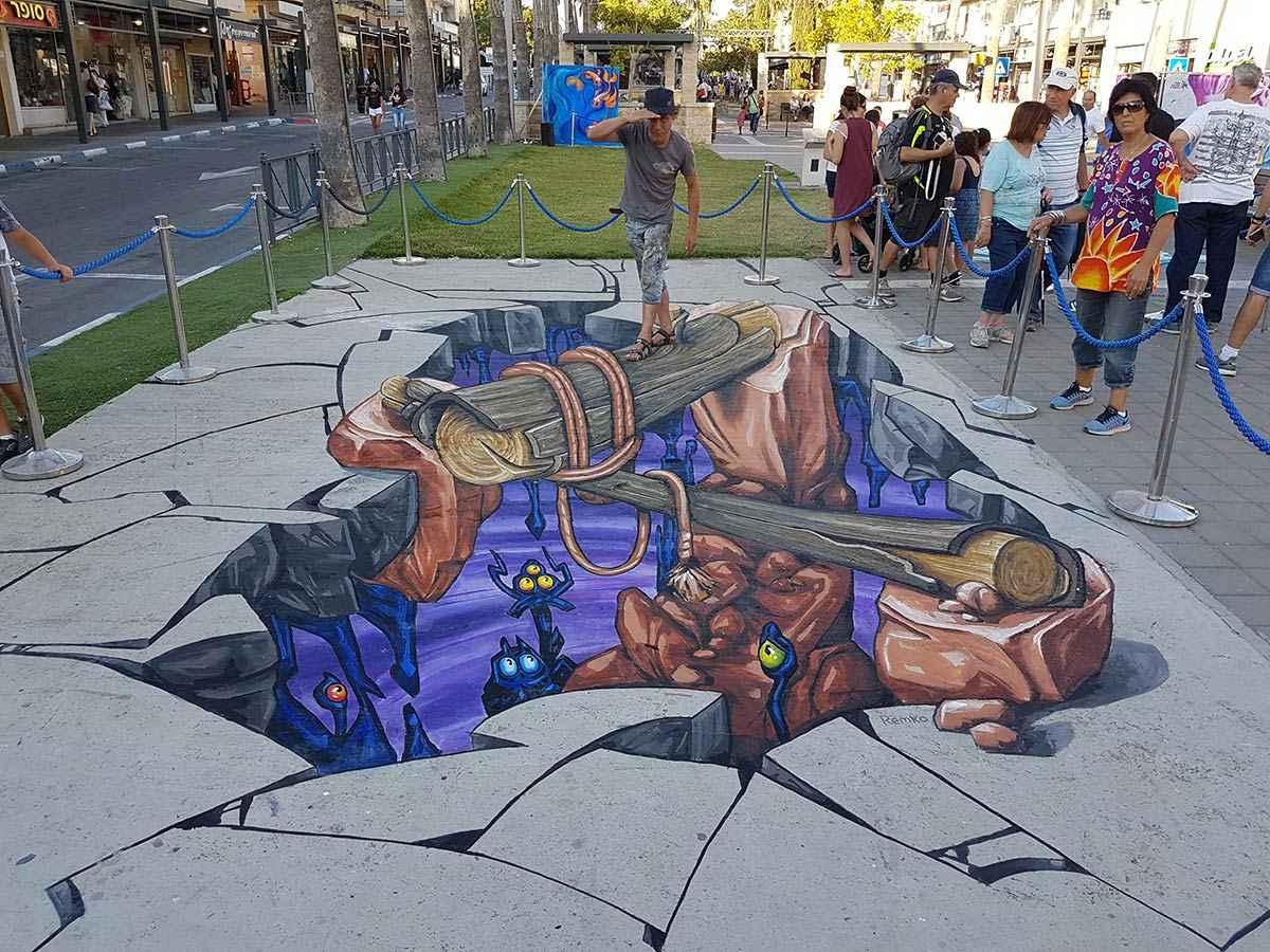 3d-streetpainting-3d-streetart-remko-van-schaik-3d-streetart-festival-afula-israel-3