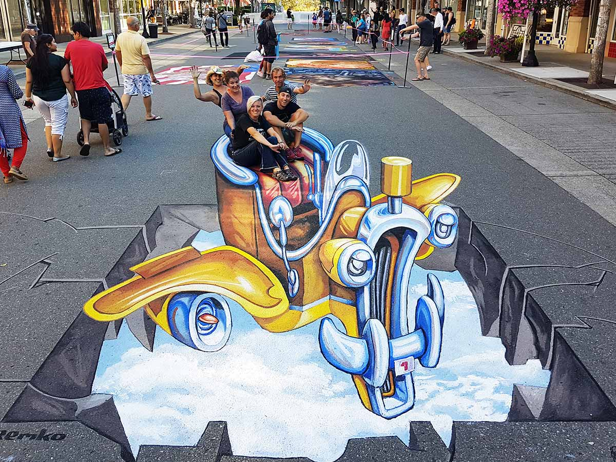 3D Streetpainting at PNW Chalk Festival, Redmond USA
