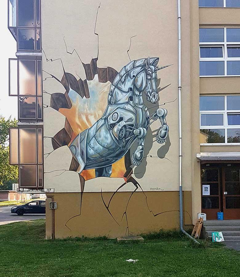 3D Streetpainting Kolorcity, Graffiti Jam, Kazincbarcika, Hungary.