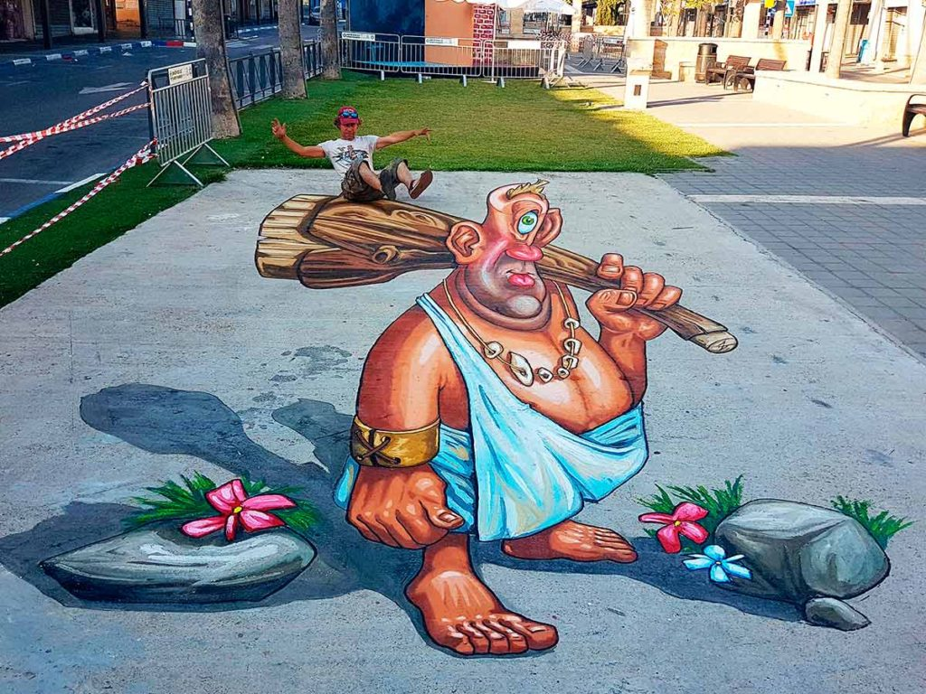 3d-streetpainting-3d-streetart-streetpainter-remko-van-schaik-centre-streetart-festival-afula-israel-2017