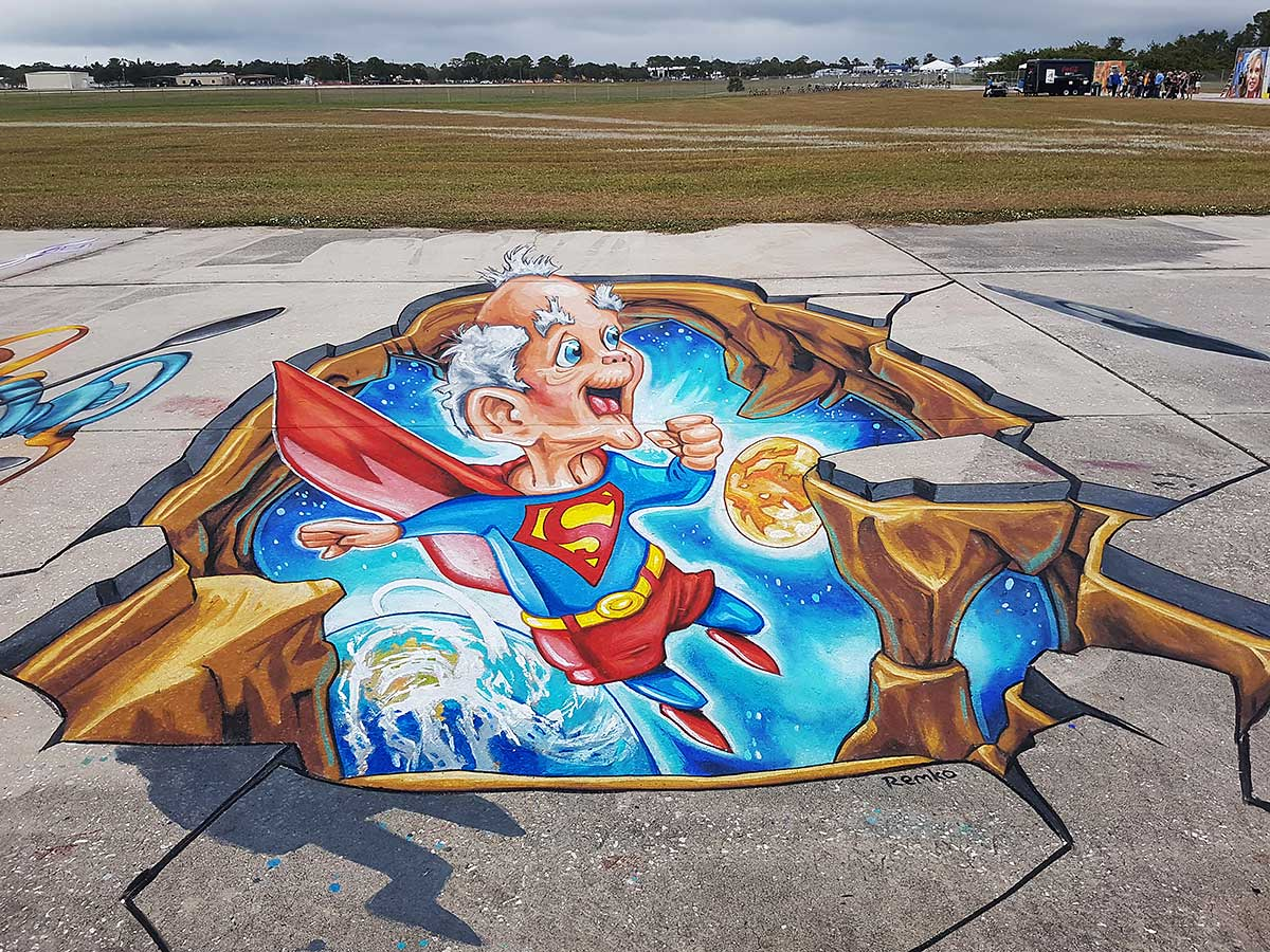 3D Streetpainting at Sarasota Chalk Feslival 2017