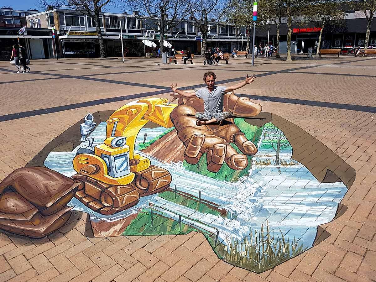 3D Streetpainting Plein '53, Rotterdam