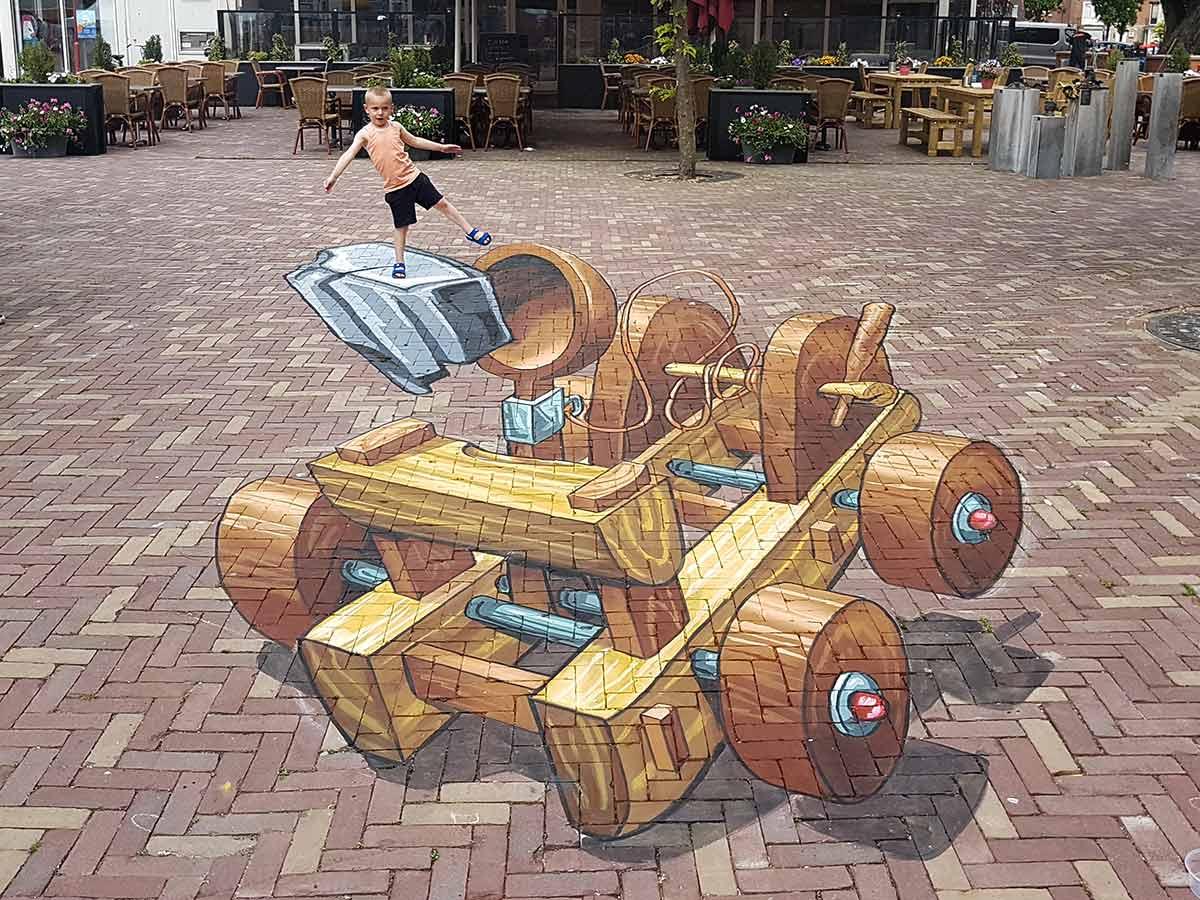 3D Streetpainting Streetart Festival Bodegraven-Reeuwijk