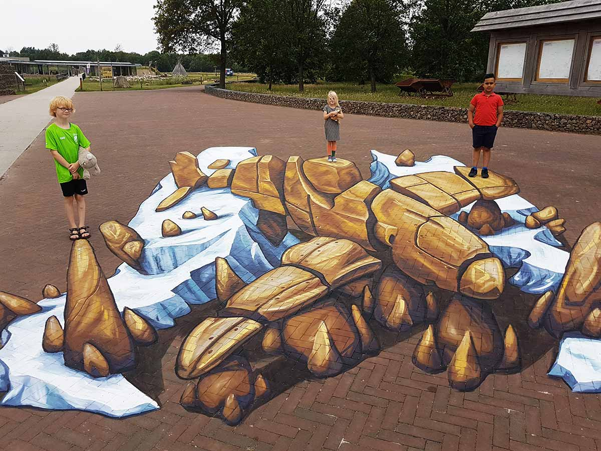 3D Streetpainting at Holtingerveld, Havelte.